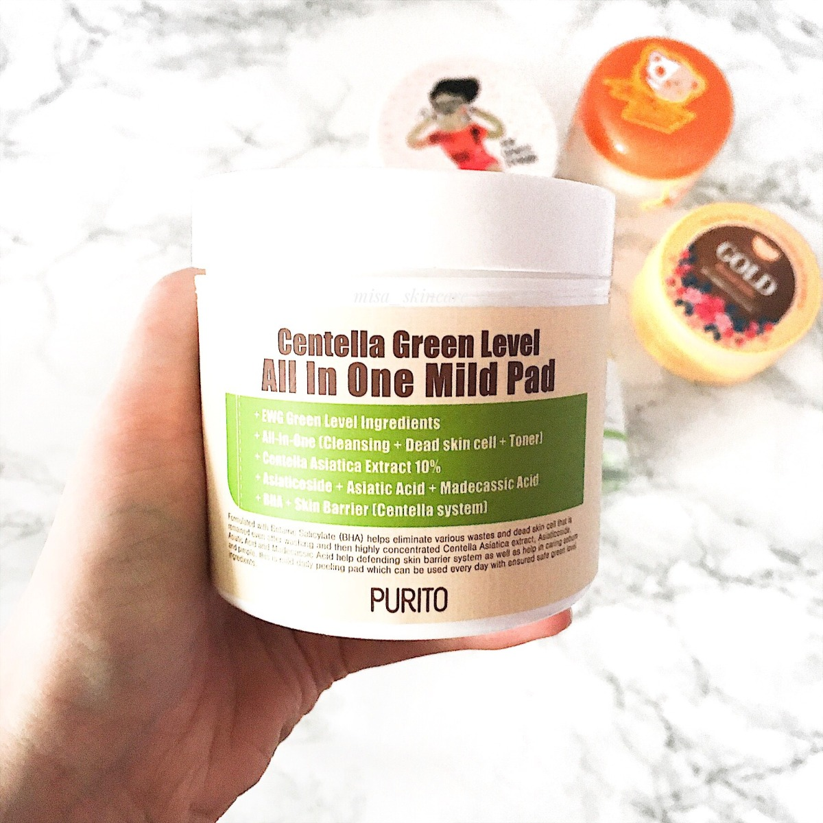 Review Purito Centella Green Level ALL in One Mild Pad*